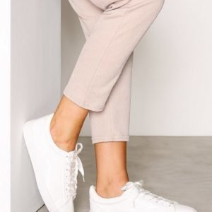 New Look Patent Ribbon Lace Trainers Tennarit White