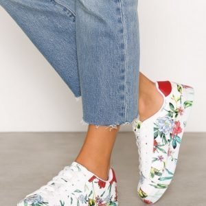 New Look Pu Print Sole Lace Up Tennarit Red
