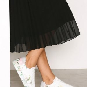 New Look Pu Print Sole Lace Up Tennarit White