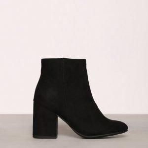 New Look Suedette Block Heel Boot Nilkkurit Black