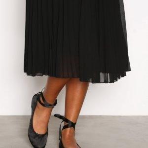New Look Suedette Tie Up Pumps Ballerinat Black