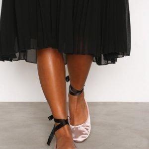 New Look Suedette Tie Up Pumps Ballerinat Pink
