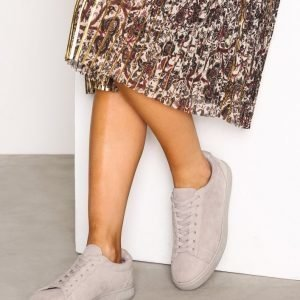 New Look Suedette Trainers Tennarit Grey