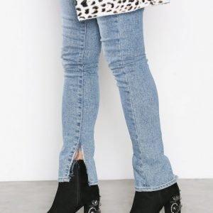 New Look Velvet Embellished Boot Bootsit Black