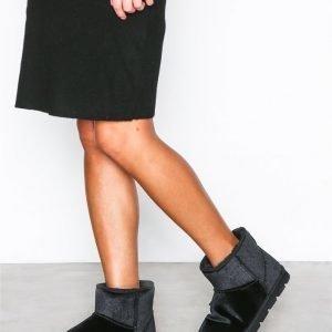 New Look Velvet Faux Lined Boot Bootsit Black