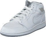 Nike Air Jordan 1 Mid Bg White/Wolf Grey