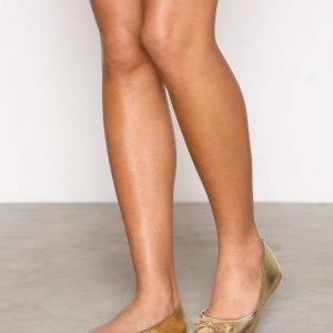 Nly Shoes Ballerina Ballerinat Metallic Gold