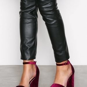 Nly Shoes Block Heel Sandal Sandaalit Burgundy