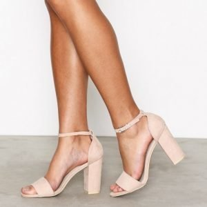 Nly Shoes Block Heel Sandal Sandaalit Dusty Pink