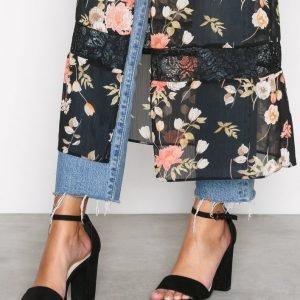 Nly Shoes Block Heel Sandal Sandaalit Musta