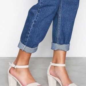 Nly Shoes Block Mid Heel Sandal Sandaalit Beige