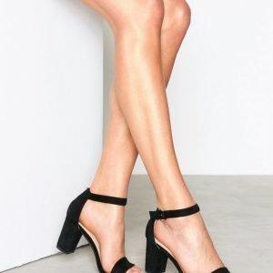 Nly Shoes Block Mid Heel Sandal Sandaalit Musta