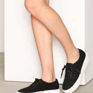 Nly Shoes Canvas Sneaker Tennarit Musta