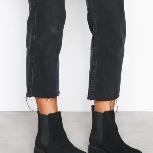 Nly Shoes Chunky Chelsea Boot Bootsit Musta