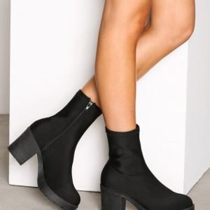 Nly Shoes Chunky Lycra Boot Nilkkurit Musta