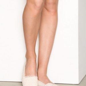 Nly Shoes Crochet Ballerina Ballerinat Offwhite