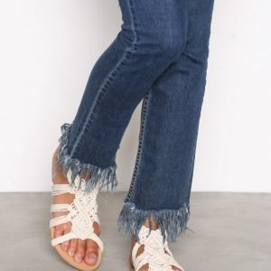 Nly Shoes Crochet Sandal Sandaalit Offwhite