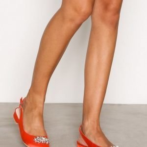 Nly Shoes Embellished Ballerina Ballerinat Coral