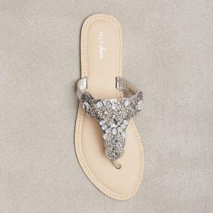 Nly Shoes Embellished Sandal Sandaalit Hopea