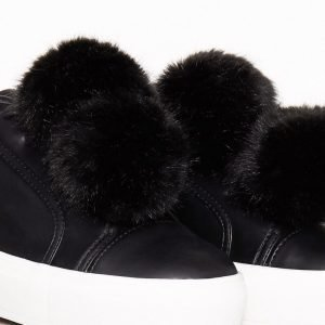 Nly Shoes Fuzzy Sneaker Tennarit Musta