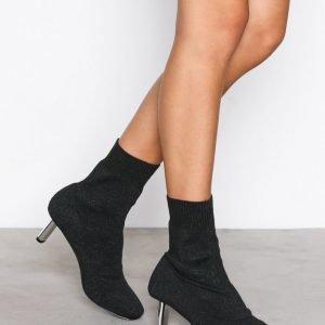 Nly Shoes Glitter Boot Bootsit Musta