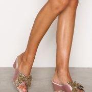 Nly Shoes Glitter Bow Sandal Kiilakorkosandaalit Vaaleanpunainen