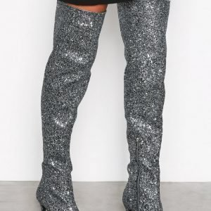 Nly Shoes Glitter Thigh Boot Ylipolvensaappaat Glitter