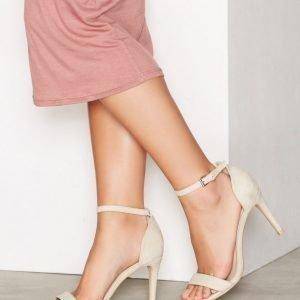 Nly Shoes Heel Sandal Sandaalit Beige