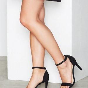 Nly Shoes Heel Sandal Sandaalit Musta