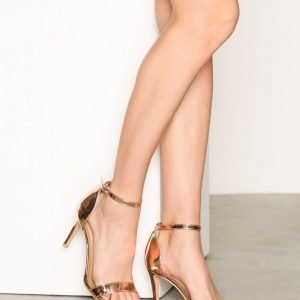 Nly Shoes Heel Sandal Sandaalit Ruusukulta