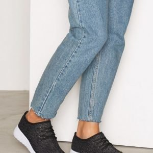 Nly Shoes Knitted Sneaker Tennarit Musta / Harmaa