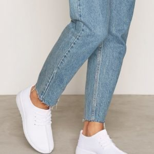 Nly Shoes Knitted Sneaker Tennarit Valkoinen