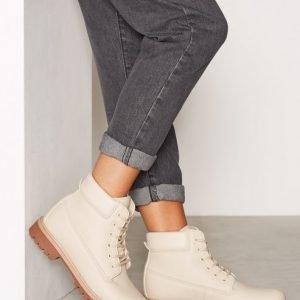 Nly Shoes Lace Boot Nahkakengät Hiekka