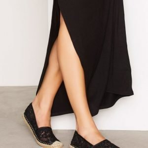 Nly Shoes Lace Espadrille Espadrillot Musta