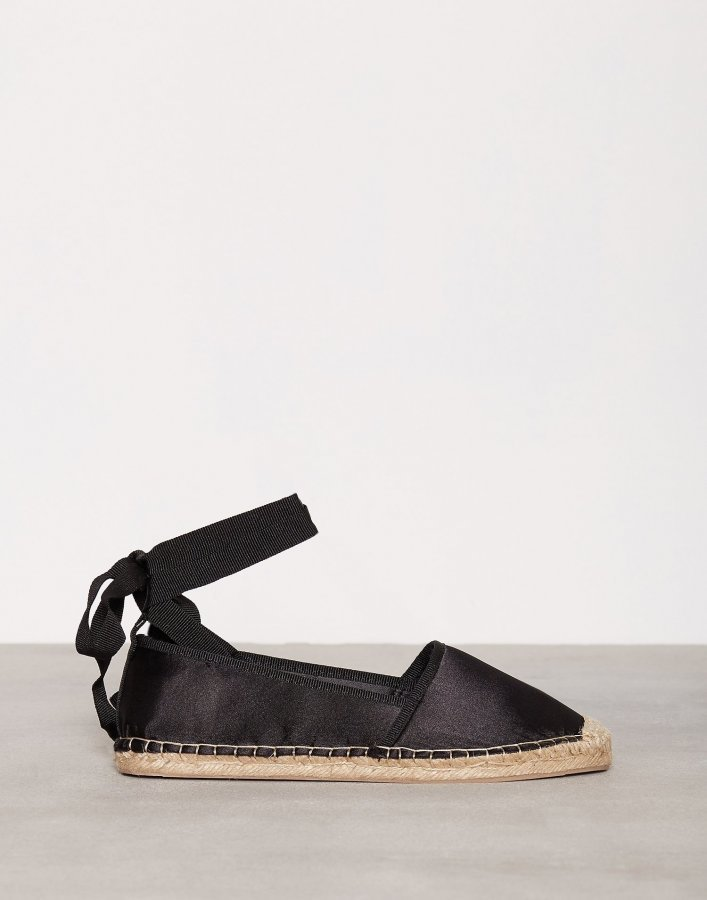 Nly Shoes Lace Espadrilles Espadrillot Musta