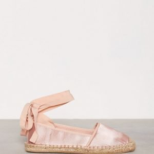 Nly Shoes Lace Espadrilles Espadrillot Vaaleanpunainen