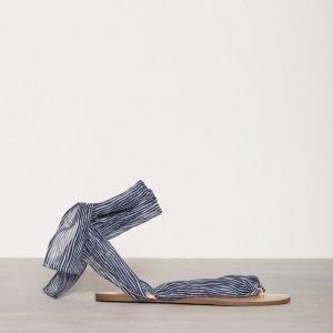 Nly Shoes Lace Sandal Sandaalit Blue Stripe