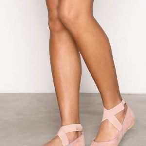 Nly Shoes Lacing Ballerina Ballerinat Dusty Pink