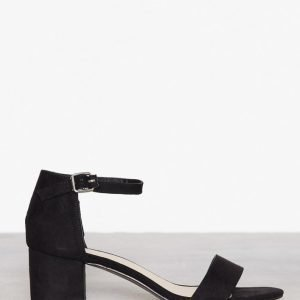 Nly Shoes Low Block Heel Sandal Mokkanahkasandaalit Musta