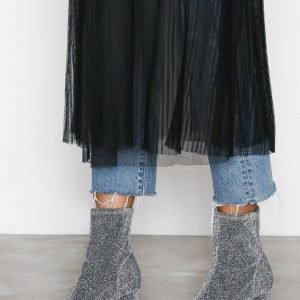 Nly Shoes Lurex Boot Bootsit Hopea / Musta