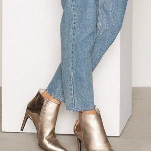 Nly Shoes Metallic Stiletto Boot Bootsit Hopea