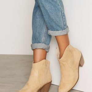 Nly Shoes Mid Ankle Bootie Nilkkurit Beige