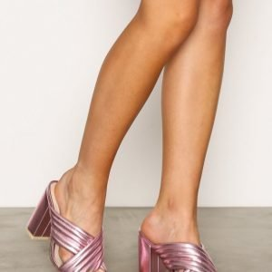 Nly Shoes Mule Sandaletit Metallic Pink