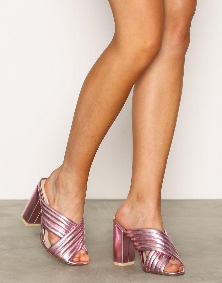 Nly Shoes Mule Sandaletit Metallic Pink