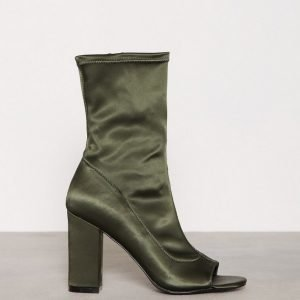 Nly Shoes Open Toe Bootie Bootsit Emerald Green