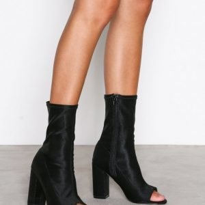 Nly Shoes Open Toe Bootie Bootsit Musta