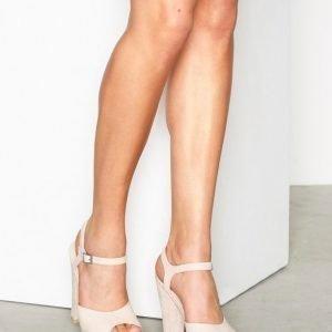 Nly Shoes Plain Platform Sandal Sandaletit Beige
