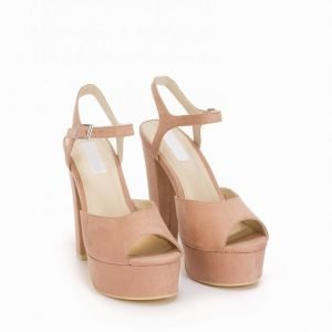 Nly Shoes Plain Platform Sandal Sandaletit Dusty Pink