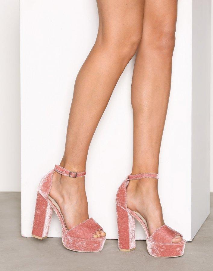 Nly Shoes Platform Block Sandal Sandaletit Vaaleanpunainen