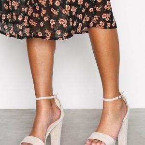 Nly Shoes Platform Heel Sandal Sandaalit Beige
